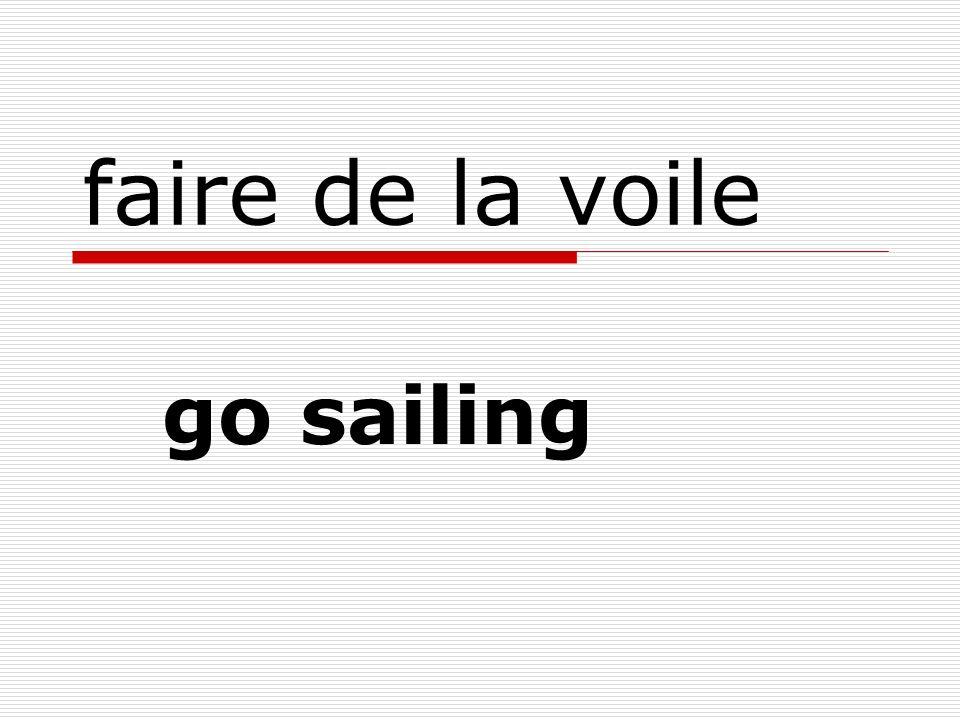 faire de la voile go sailing
