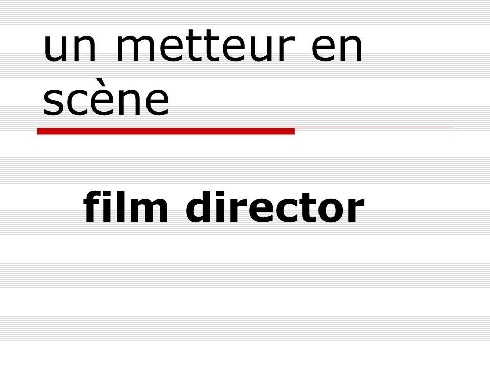 un metteur en scène film director