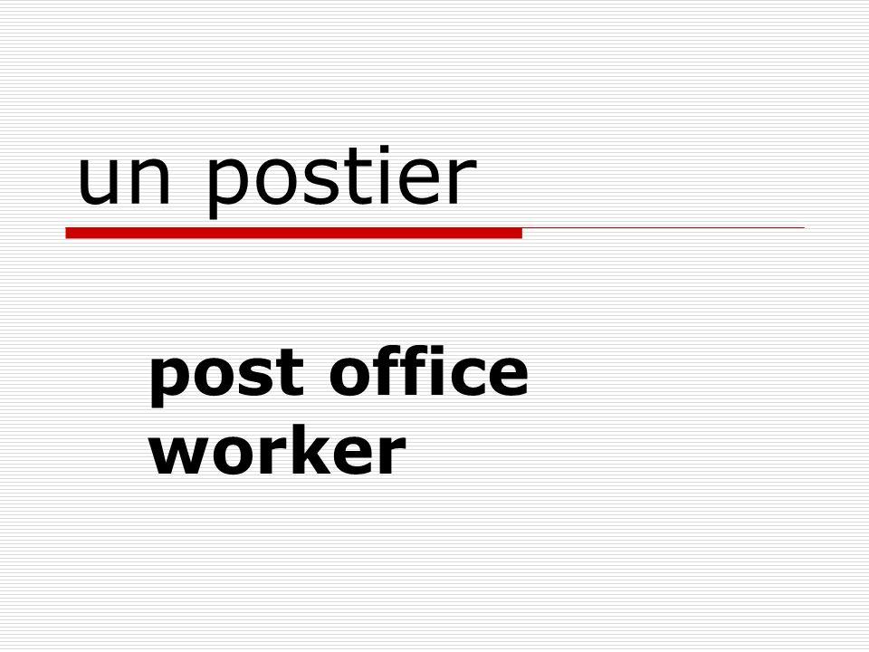 un boulot a job