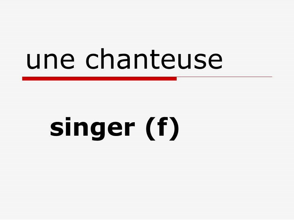 une chanteuse singer (f)