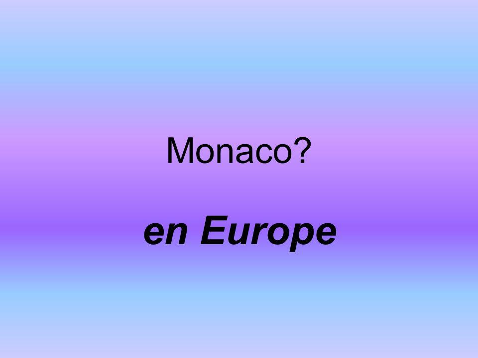 Monaco en Europe