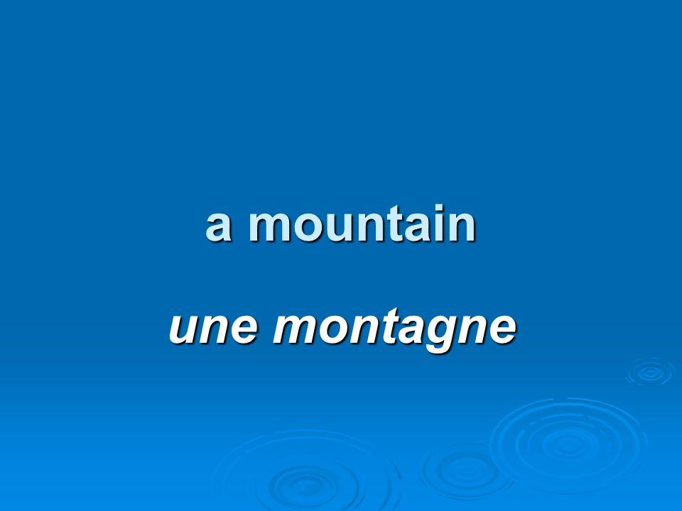 a mountain une montagne