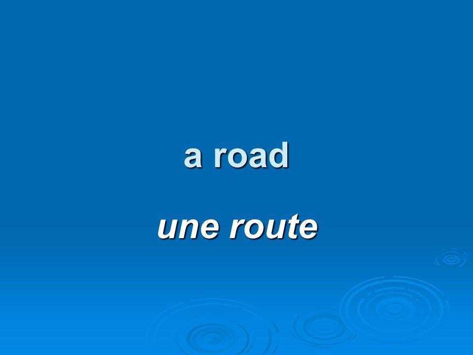 a road une route