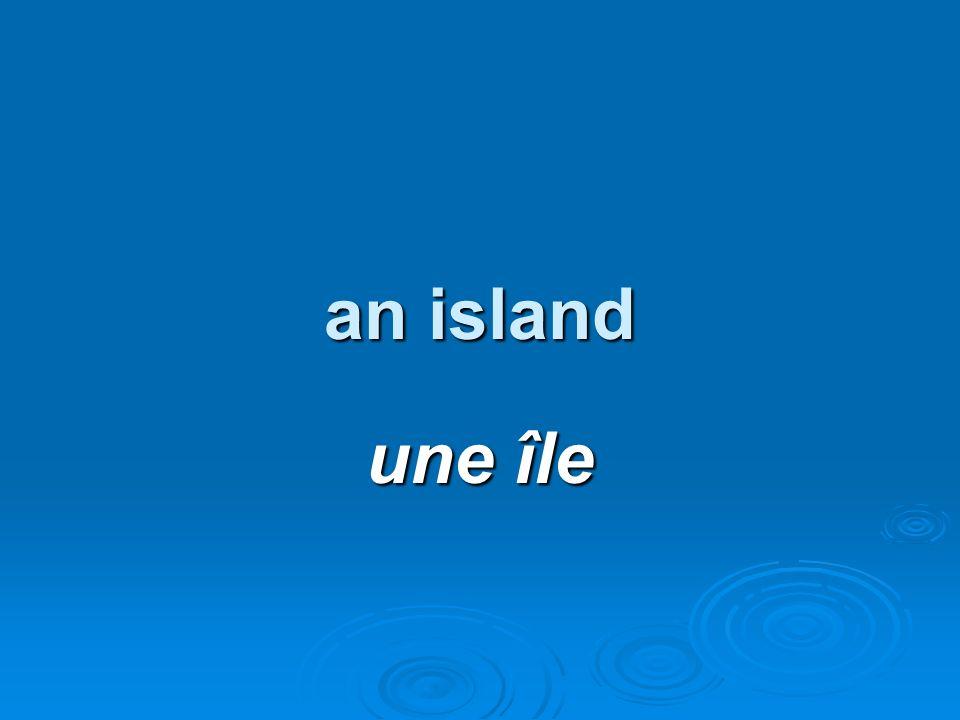 an island une île