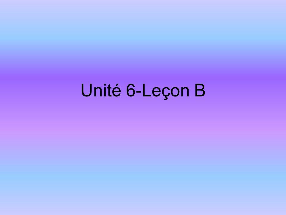 Unité 6-Leçon B