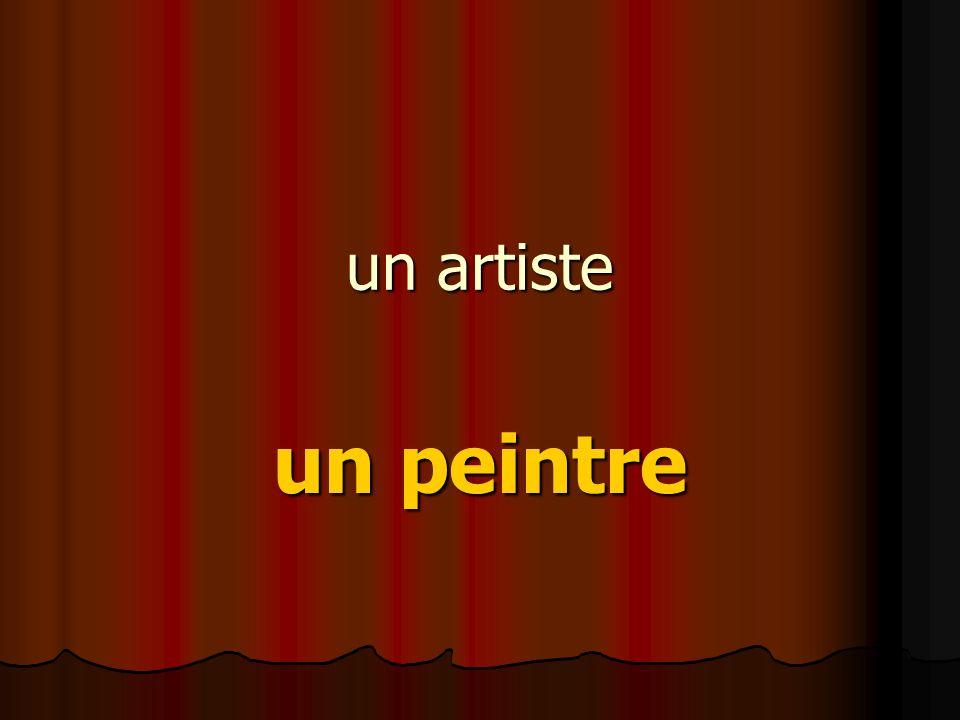 un artiste un peintre