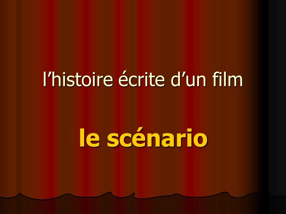 lhistoire écrite dun film le scénario