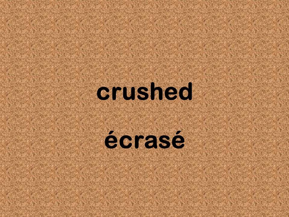 crushed écrasé