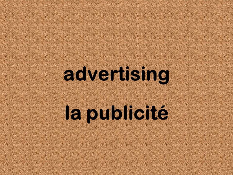 advertising la publicité