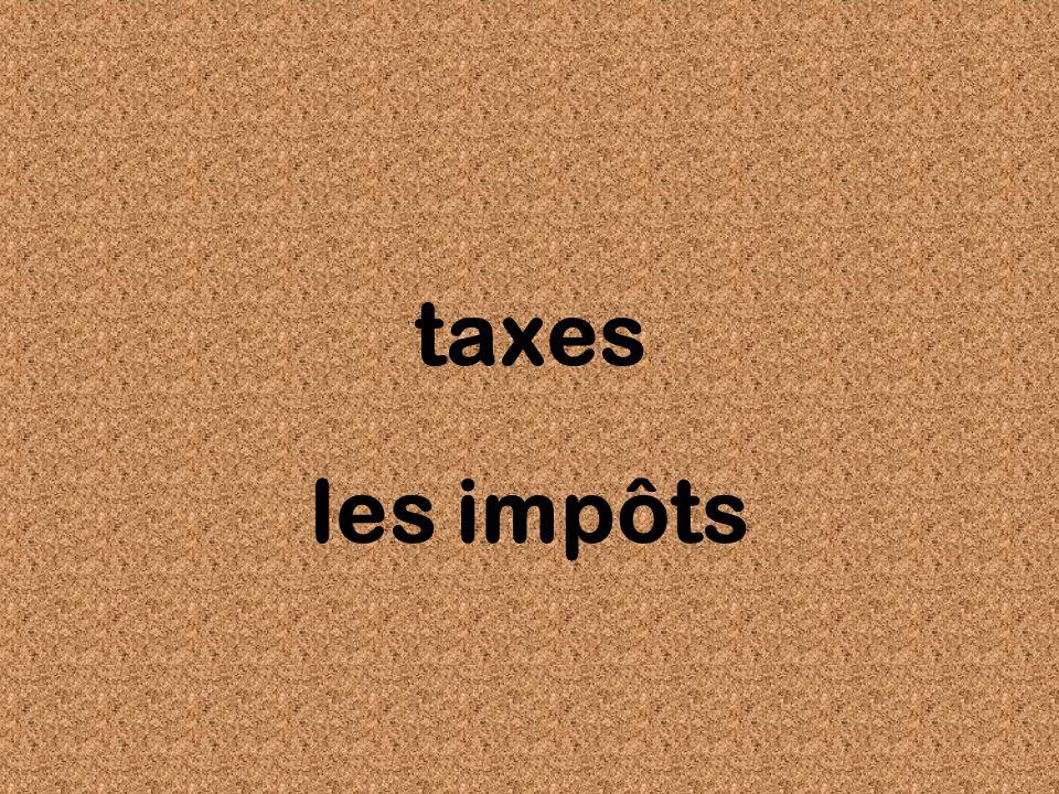taxes les impôts