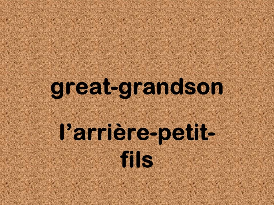 great-grandson larrière-petit- fils