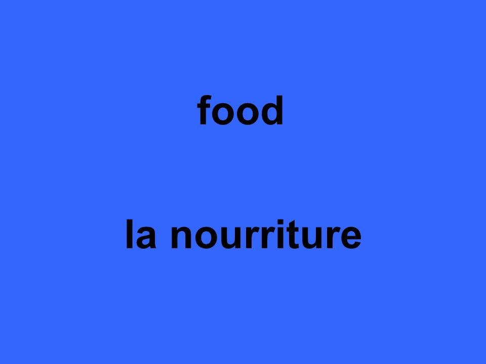 food la nourriture