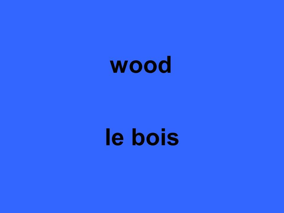 wood le bois