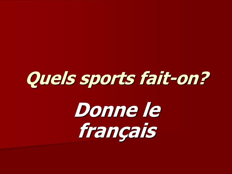 Les sports individuels comme ___ sont populaires en France.