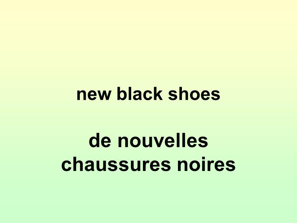 new black shoes de nouvelles chaussures noires