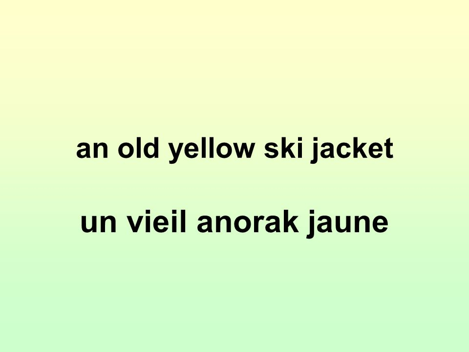an old yellow ski jacket un vieil anorak jaune