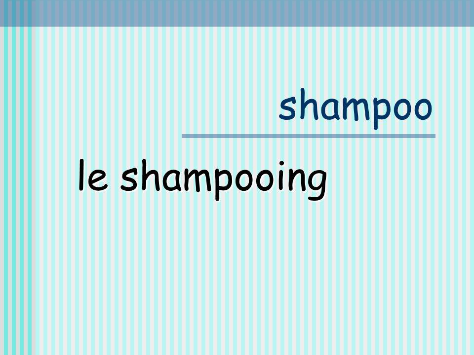 shampoo le shampooing