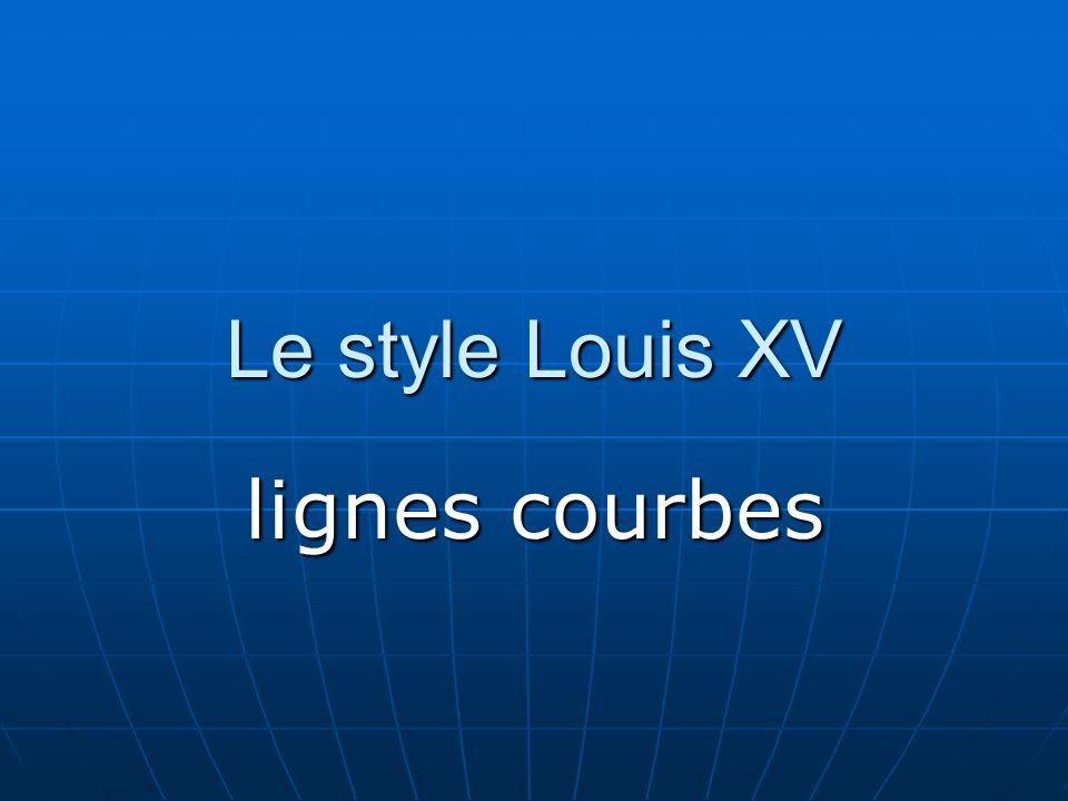Le style Louis XV lignes courbes