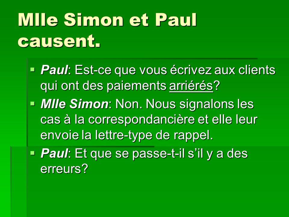 Mlle Simon et Paul causent.