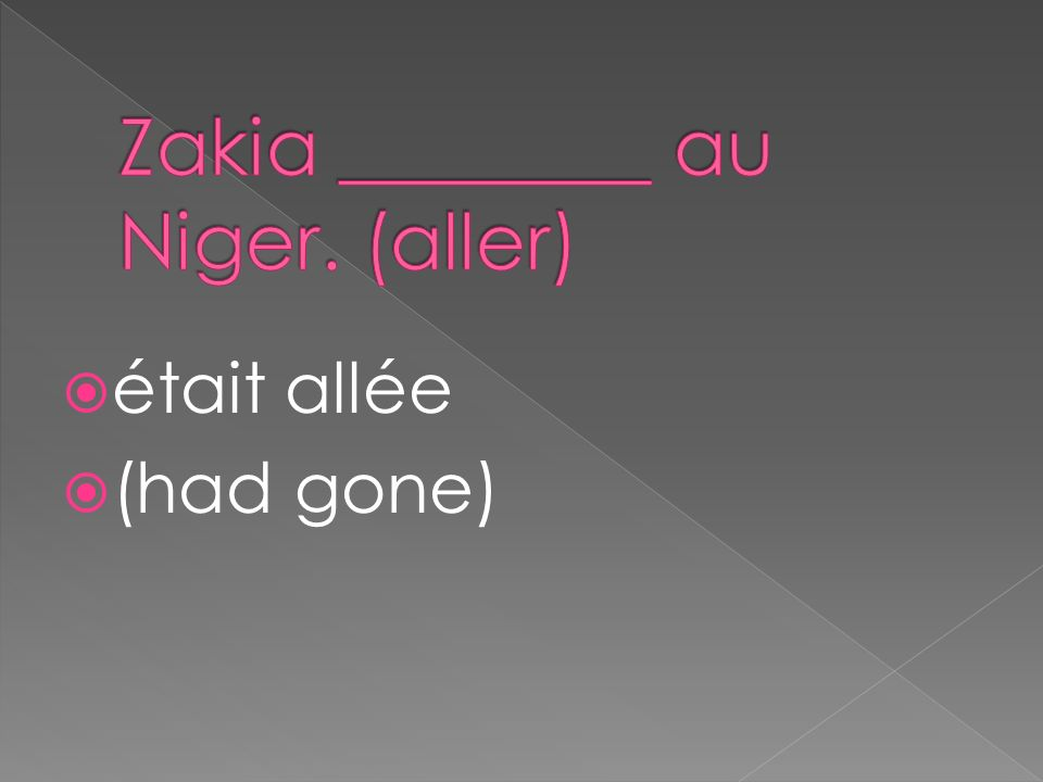était allée (had gone)