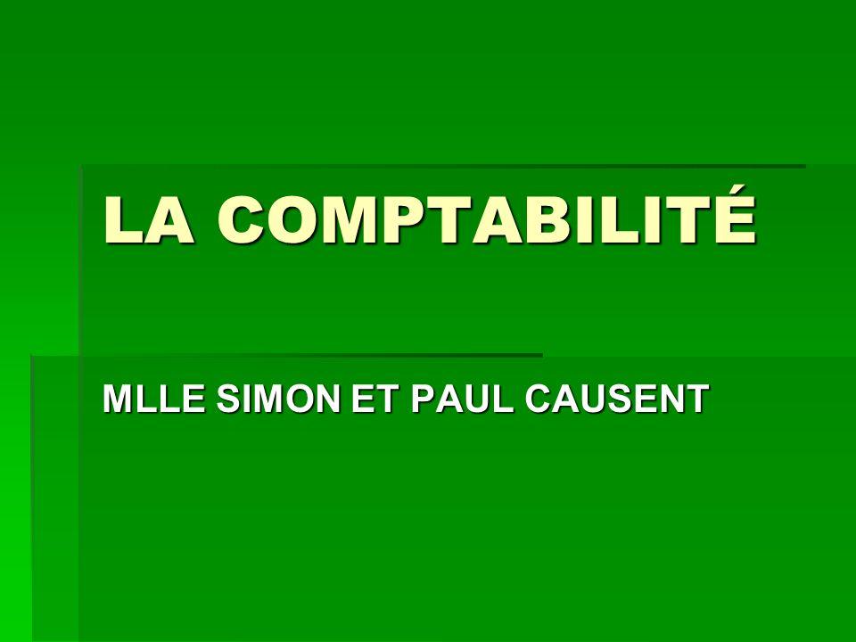 LA COMPTABILITÉ MLLE SIMON ET PAUL CAUSENT