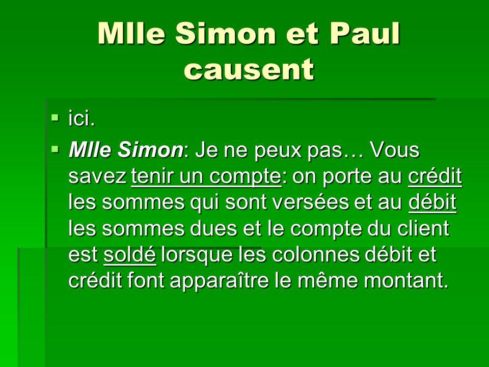 Mlle Simon et Paul causent ici.ici.