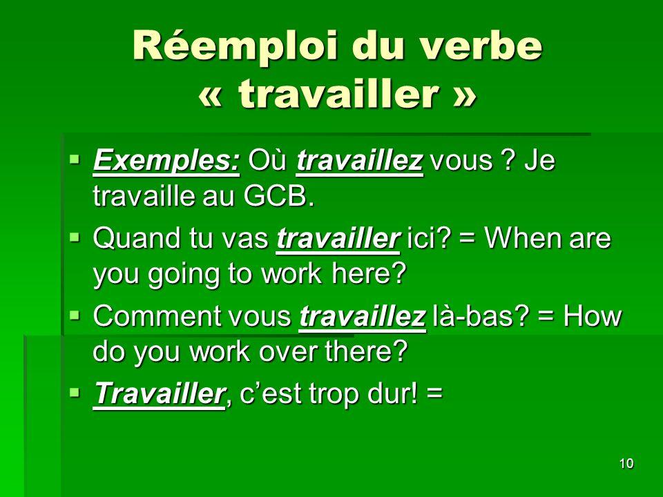 11 Traitement des verbes Faire = to do Faire = to do Je fais = i do/ im doing Je fais = i do/ im doing Tu fais = you do/ youre doing Tu fais = you do/ youre doing Il/elle/on fait = he/she/one does Il/elle/on fait = he/she/one does Nous faisons = we do Nous faisons = we do Vous faites = you do Vous faites = you do Ils/ elles font = they do/ theyre doing Ils/ elles font = they do/ theyre doing