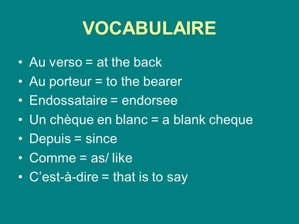 VOCABULAIRE Les barres = the bars Sont imprimées = are printed Sur = on Tous = all Être sûr = to be sure De ne pas oublier = not to forget Lorsquon écrit = when one writes