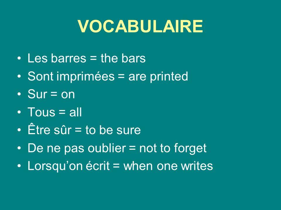 VOCABULAIRE Avant de lendosser = before endorsing it On ne peut pas = one/ we/ you cannot Alors = so/ then Si = yes/ if Mais = but Doit avoir un compte = must have an account