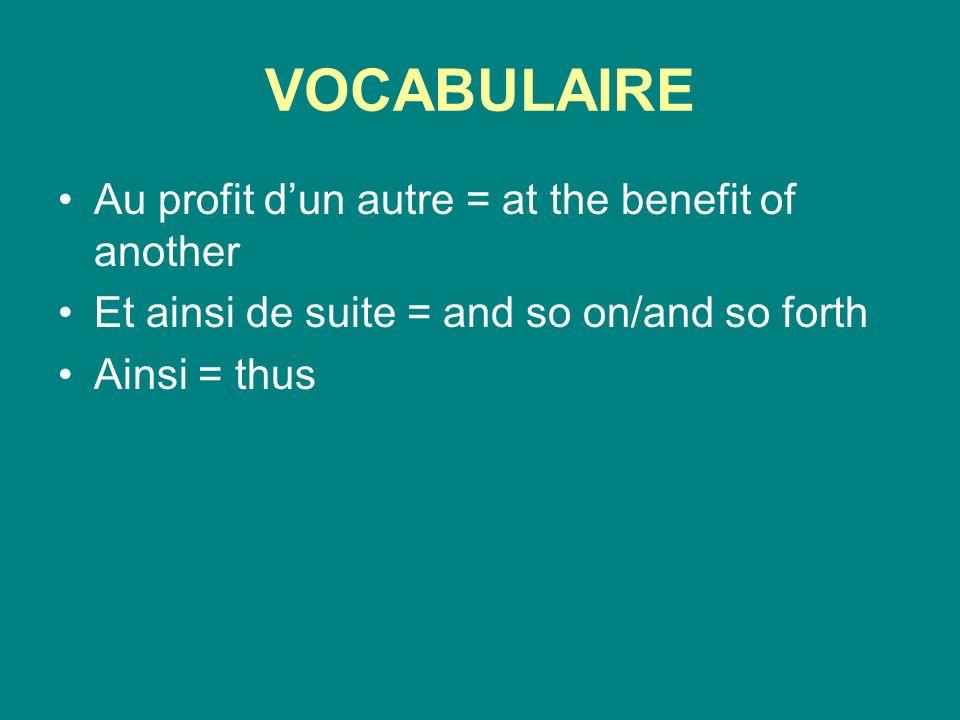 Deux autres verbes qui prennent linfinitif.