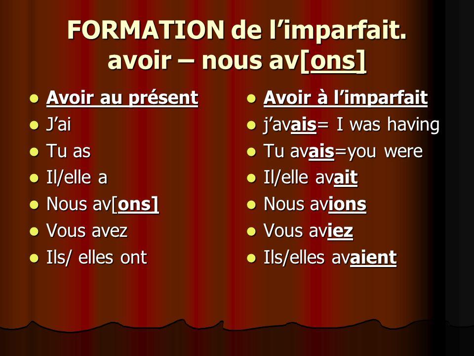 FORMATION de limparfait.