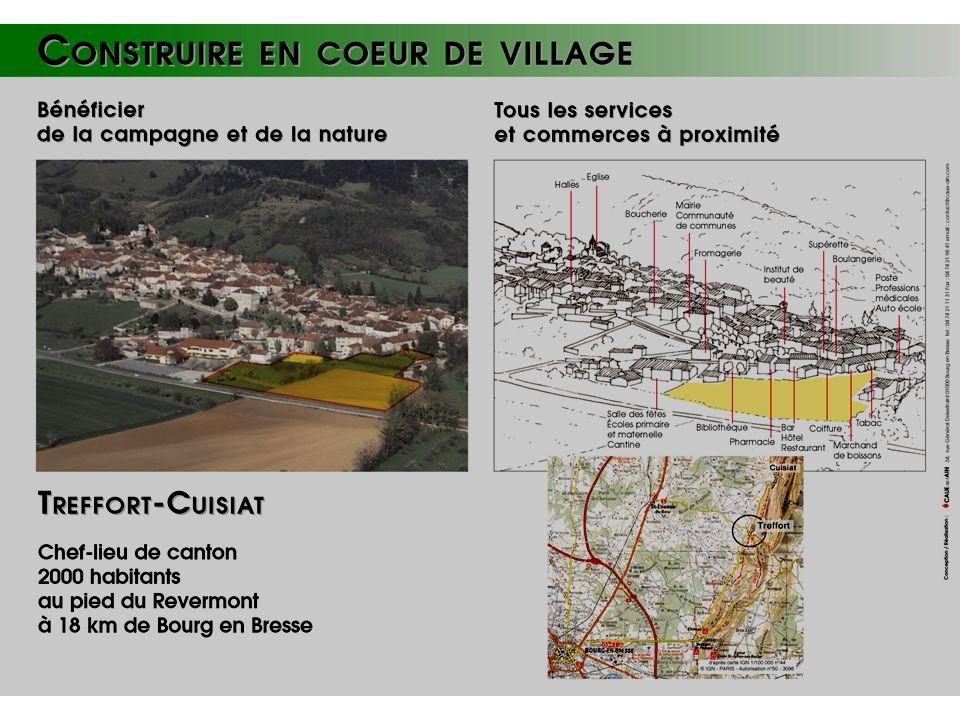 1 Présentation de Treffort-Cuisiat Commune fusionnée en 1972 Chef Lieu canton et siège CC Surface 3940 ha (Bresse/Revermont) 3 villages et 20 hameaux Population 2000 h.