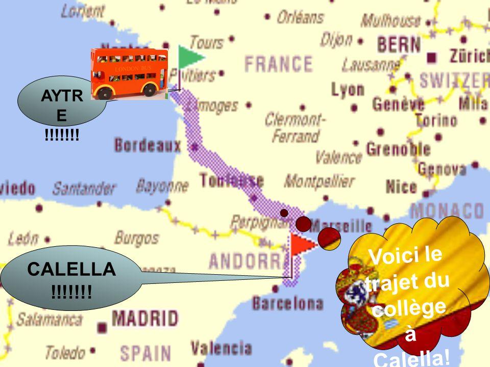 Voici le trajet du collège à Calella! AYTR E !!!!!!! CALELLA !!!!!!!
