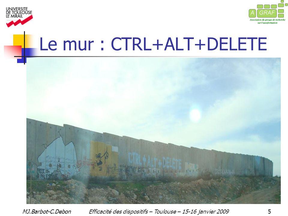 MJ.Barbot-C.DebonEfficacité des dispositifs – Toulouse – 15-16 janvier 200916 II.