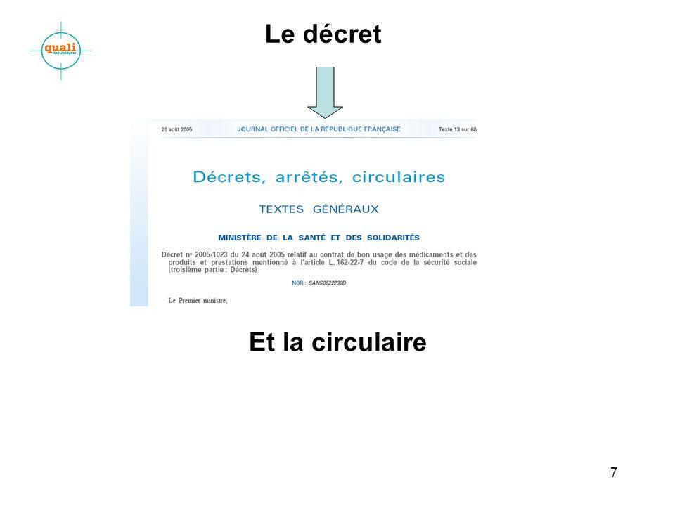 7 Le décret Et la circulaire