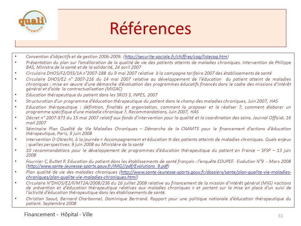 Références Convention dobjectifs et de gestion 2006-2009. (http://securite-sociale.fr/chiffres/cog/listecog.htm)http://securite-sociale.fr/chiffres/co