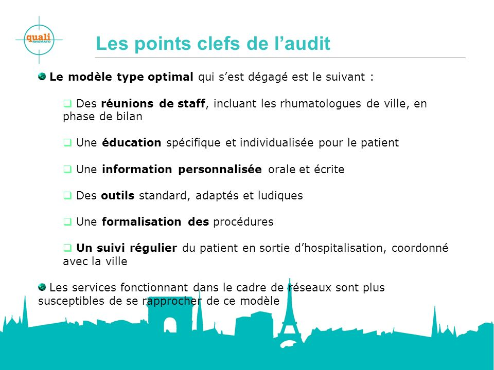 Les points clefs de laudit