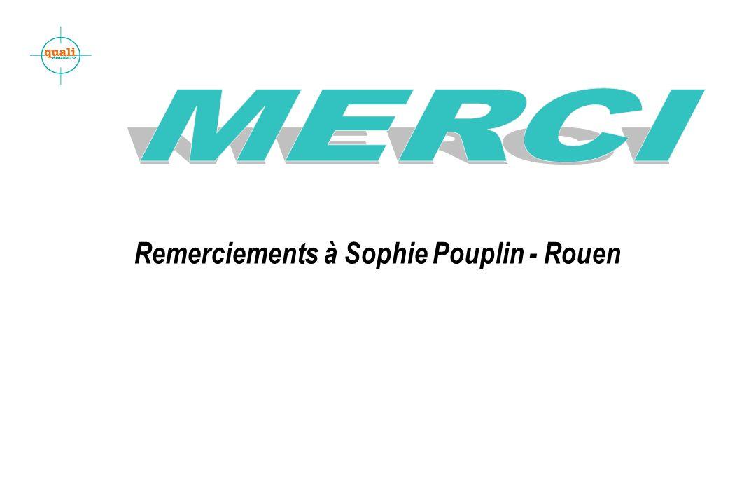 Remerciements à Sophie Pouplin - Rouen
