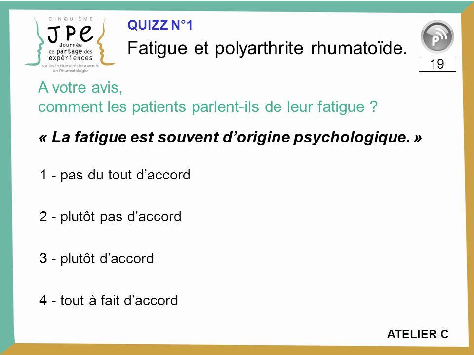 « La fatigue est souvent dorigine psychologique.
