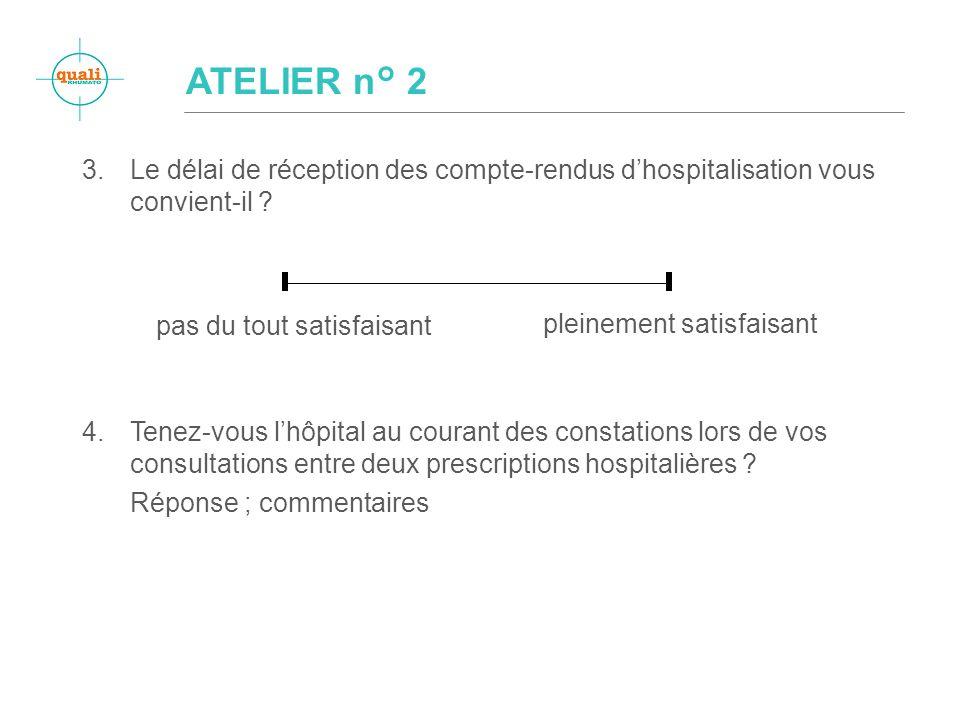 3.Le délai de réception des compte-rendus dhospitalisation vous convient-il .