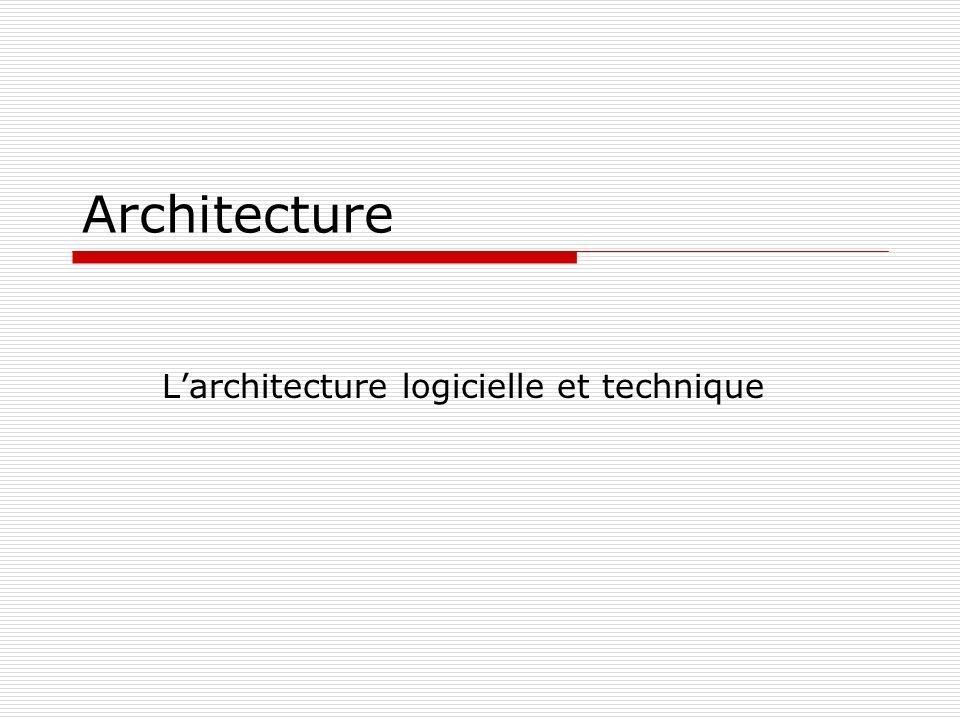 Architecture Larchitecture logicielle et technique