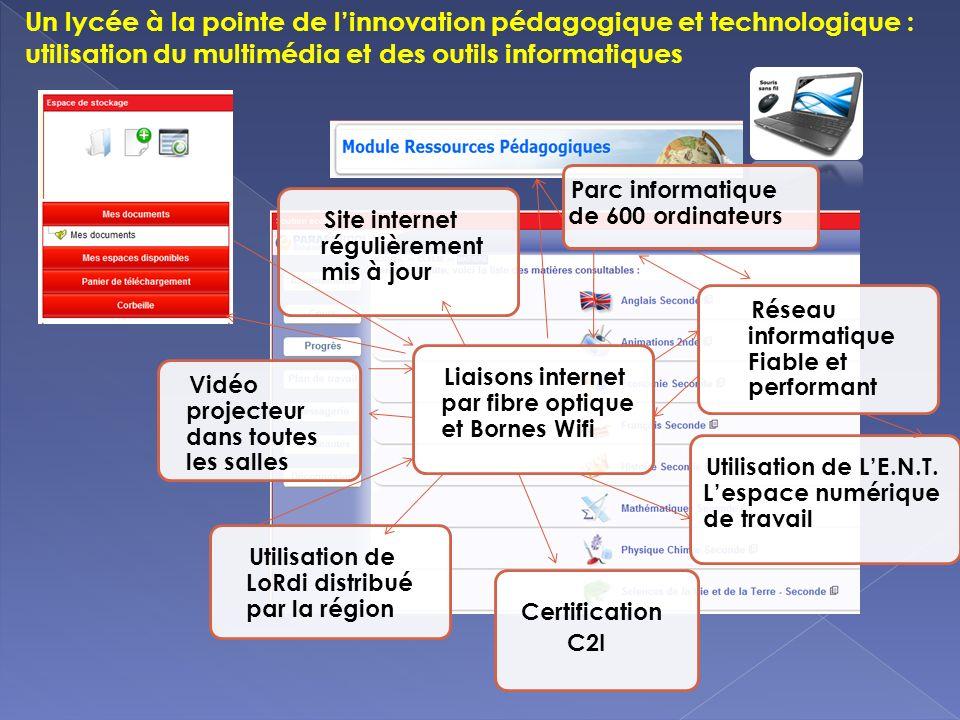 Un lycée à la pointe de linnovation pédagogique et technologique : utilisation du multimédia et des outils informatiques Utilisation de LoRdi distribu