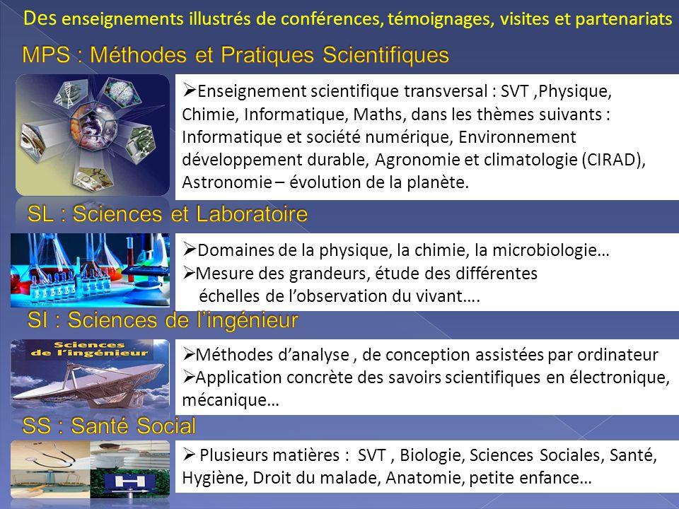Enseignement scientifique transversal : SVT,Physique, Chimie, Informatique, Maths, dans les thèmes suivants : Informatique et société numérique, Envir