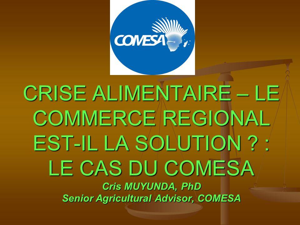 CRISE ALIMENTAIRE – LE COMMERCE REGIONAL EST-IL LA SOLUTION .
