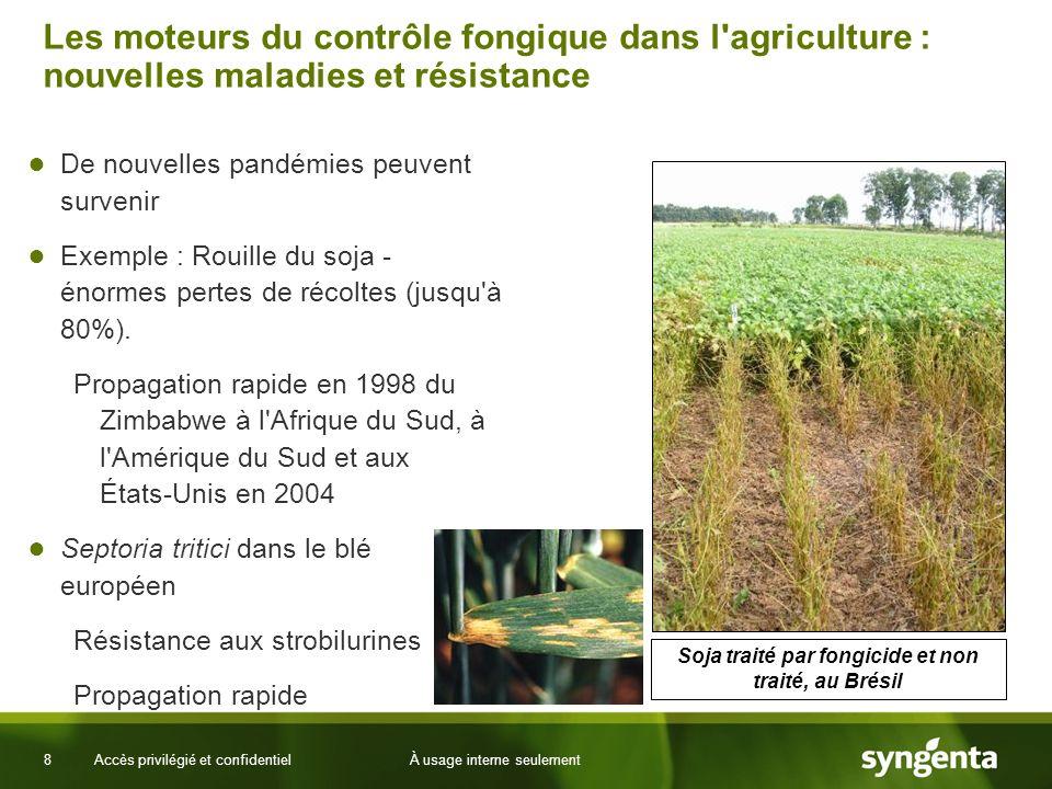 8 Les moteurs du contrôle fongique dans l'agriculture : nouvelles maladies et résistance De nouvelles pandémies peuvent survenir Exemple : Rouille du
