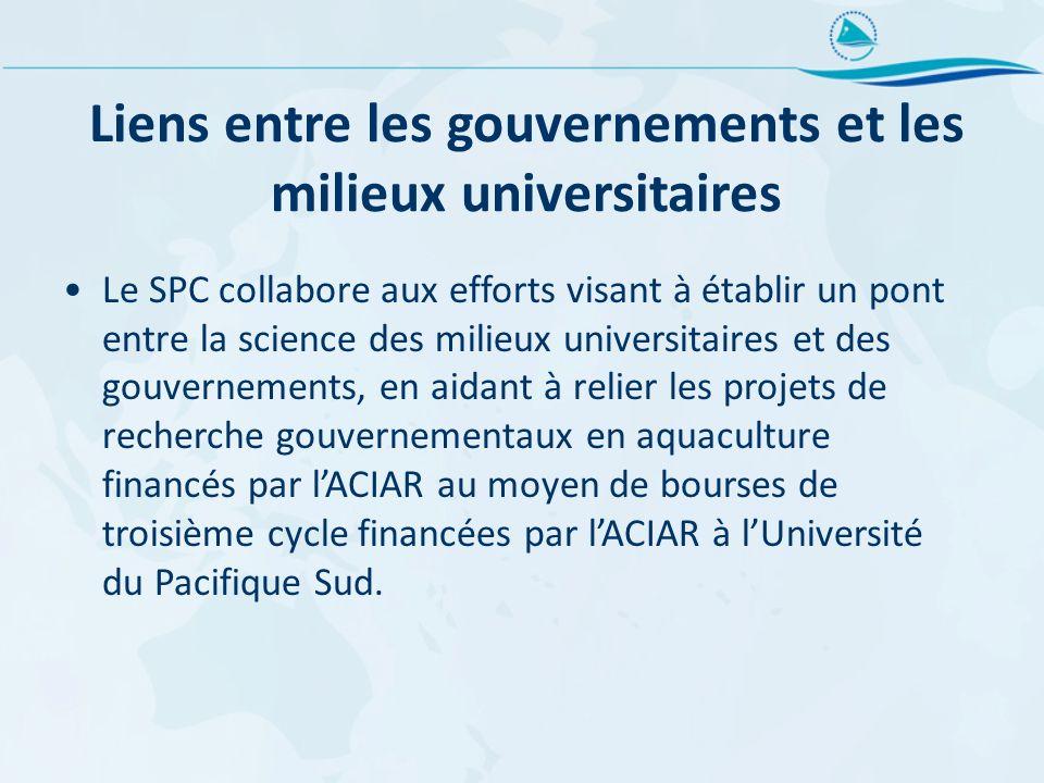 Liens entre les gouvernements et les milieux universitaires Le SPC collabore aux efforts visant à établir un pont entre la science des milieux univers