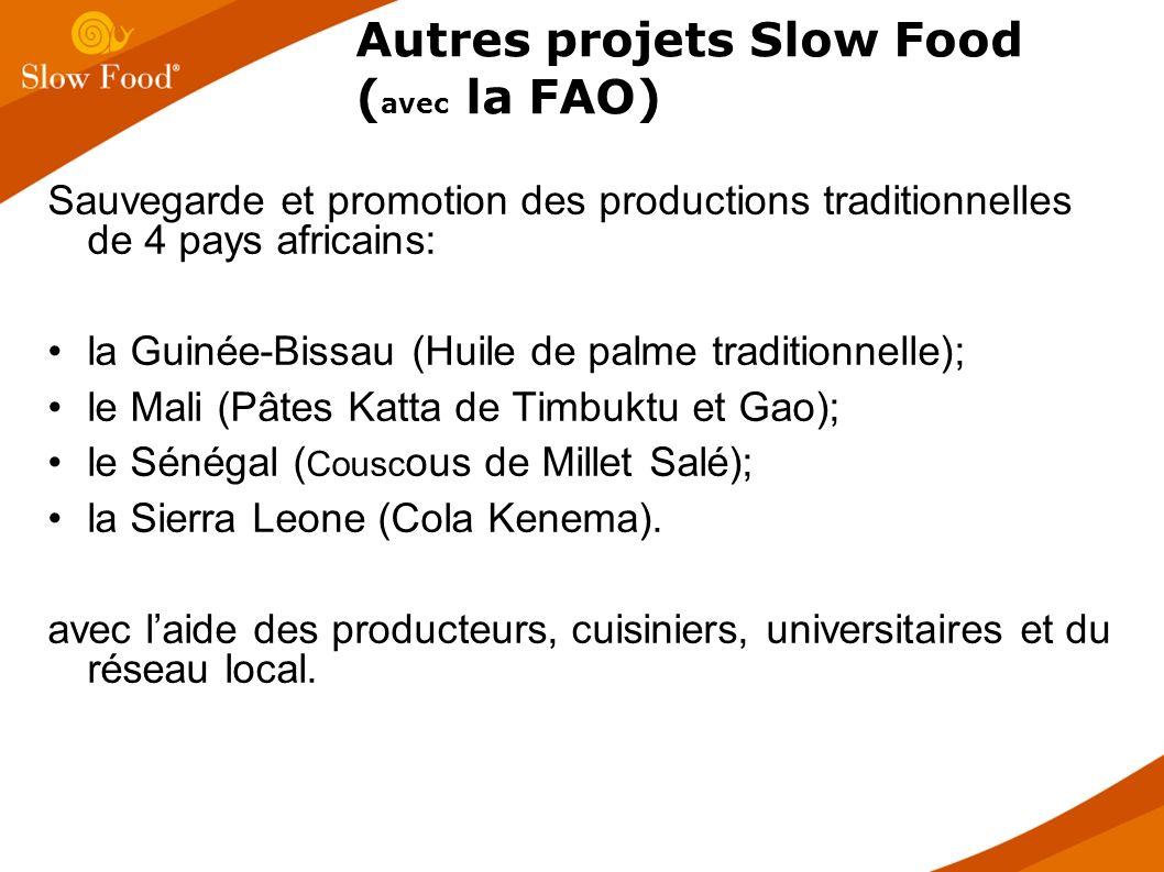 Sauvegarde et promotion des productions traditionnelles de 4 pays africains: la Guinée-Bissau (Huile de palme traditionnelle); le Mali (Pâtes Katta de