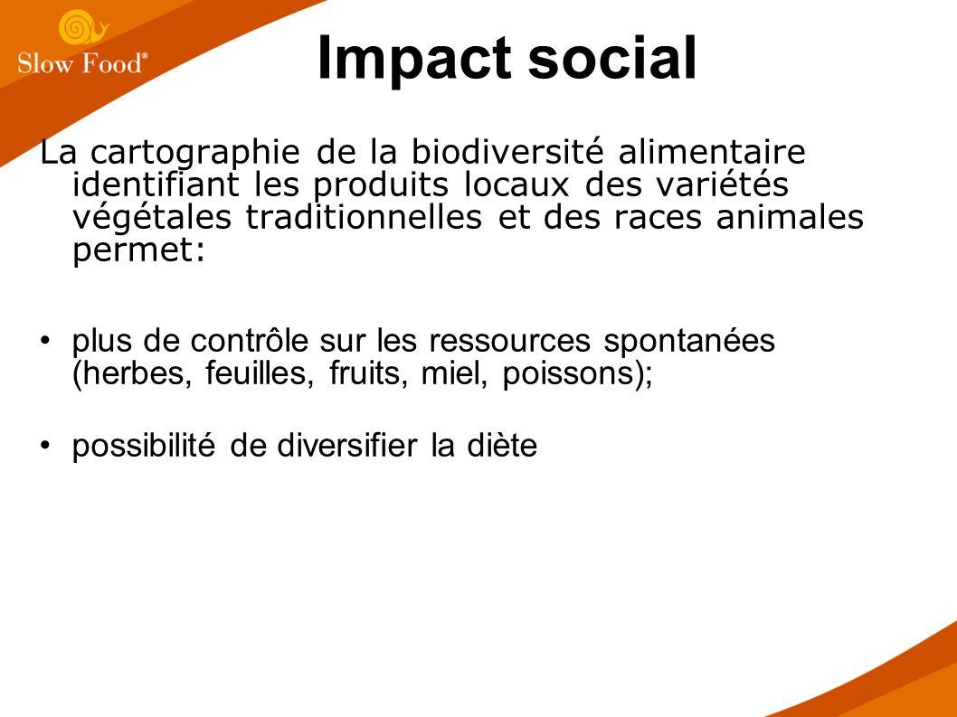 La cartographie de la biodiversité alimentaire identifiant les produits locaux des variétés végétales traditionnelles et des races animales permet: pl