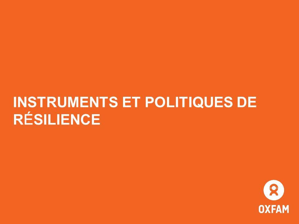 INSTRUMENTS ET POLITIQUES DE RÉSILIENCE