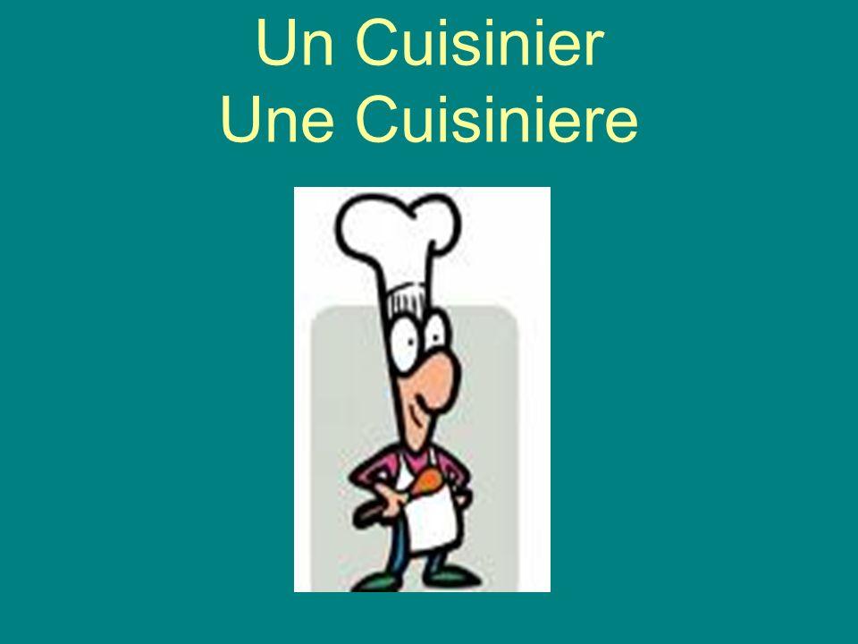 Un Cuisinier Une Cuisiniere